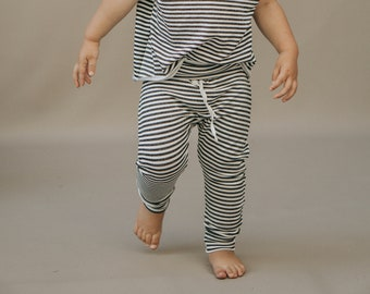 Baby Harem Pants, Charcoal and White pants, Baby pants