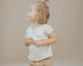 Baby Boxy Tee, Modern Baby Clothing, Grey and White Tee, Unisex tee