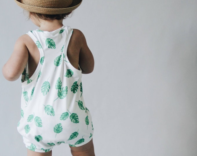 Featured listing image: Kids playsuit, Summer Romper, Minumalist clothing