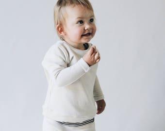 Baby sweatshirt, Cream pullover , Baby crewneck, Unisex Clothing