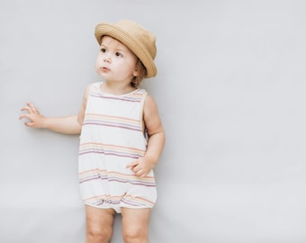 Kids playsuit, Summer Romper, Minumalist clothing