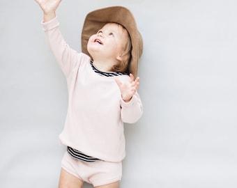 Baby sweatshirt, Blush pullover , Baby crewneck, Unisex Clothing