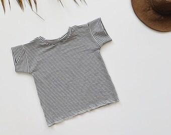 Baby Boxy Tee, Modern Baby Clothing, Striped Tee, Unisex tee