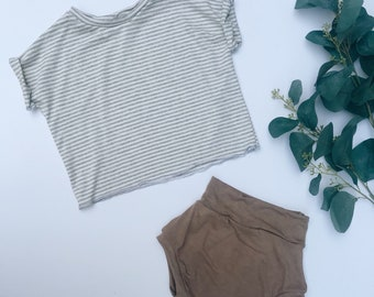 Baby Shorts, Beach shorts, Soft shorts,  Taupe shorts