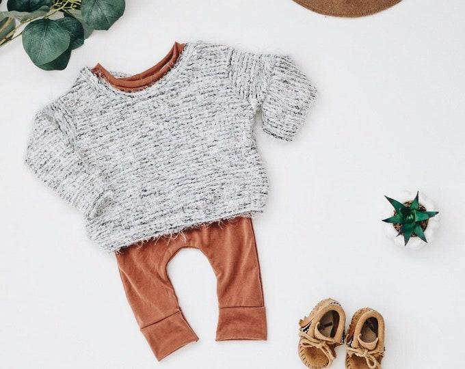 Featured listing image: Girls oversized sweater, Chunky Sweater, minimalist Clothing