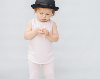 Baby Unisex tank and pants set, Harem pants,going home outfit, blush  set, Modern cothes