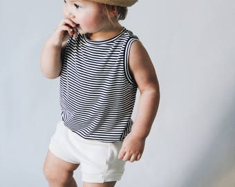 Baby Tank, black and white tank Tank top