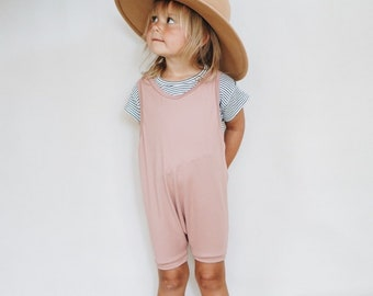 Blush Overalls, Summer Playsuit