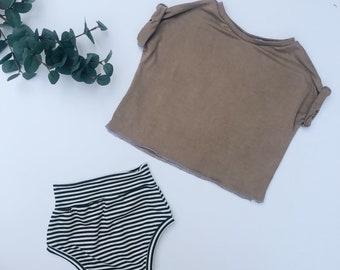 Baby Shorts, Beach shorts, Soft shorts,  Charcoal and white  shorts