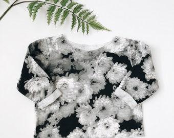 Baby sweatshirt, Floral pullover , Baby crewneck, Boxy sweatshirt