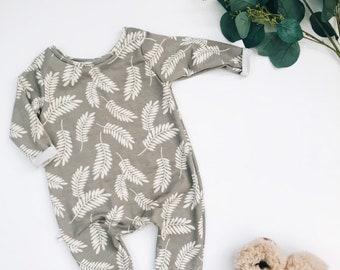 Harem style romper, Long Sleeve Romper, Minimalist Clothing