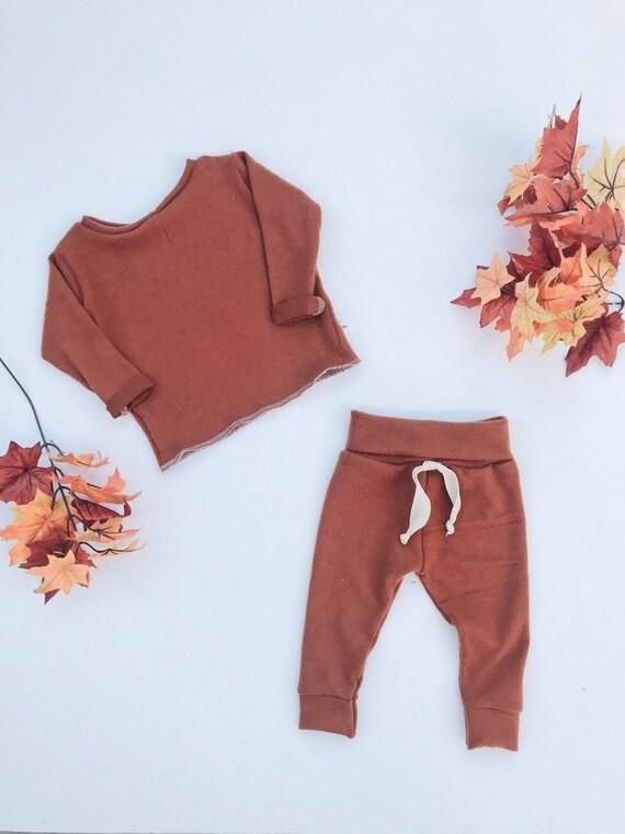 1c55f319593c Baby Unisex shirt and pants set Harem pants Long sleeve tee