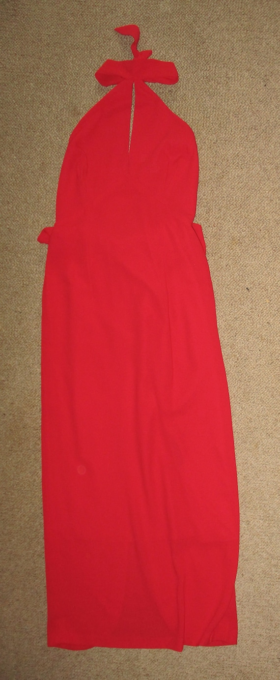 Vintage Size 8 MERIVALE  Sexy Red Evening Dress