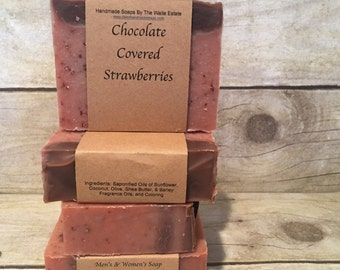 Chocolate Covered Strawberry Soap