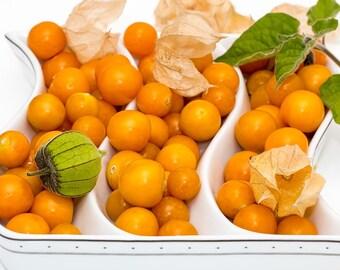 FRESH RARE Cape Gooseberry Seeds, Physalis peruviana/Golden berry/Golden strawberry/Ground cherries, Tasty and Beautiful, Organic, Heirloom