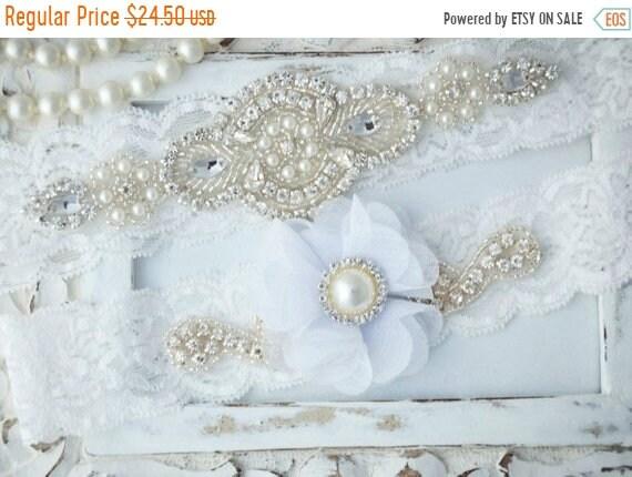 bef57234c ON SALE Wedding Garter Set Bridal Garter Set Vintage