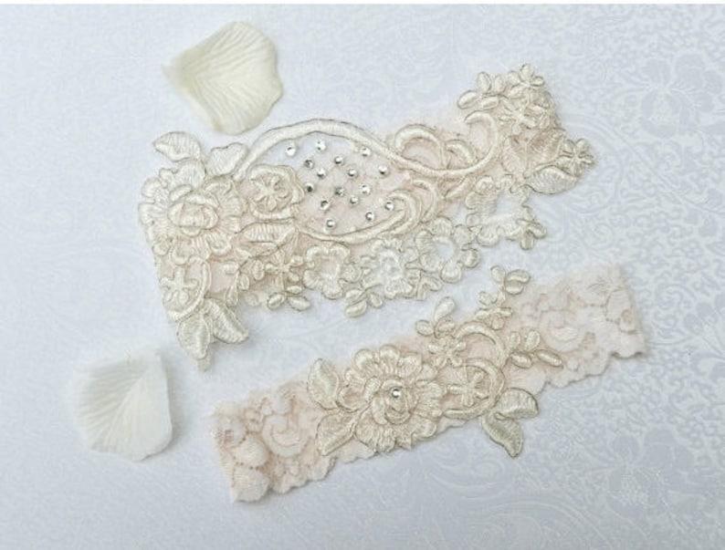Wedding Garter Set Keepsake Garter Bridal Garter Set Toss Garter Bridal Garter Set Garter Lace Garter Wedding Garter
