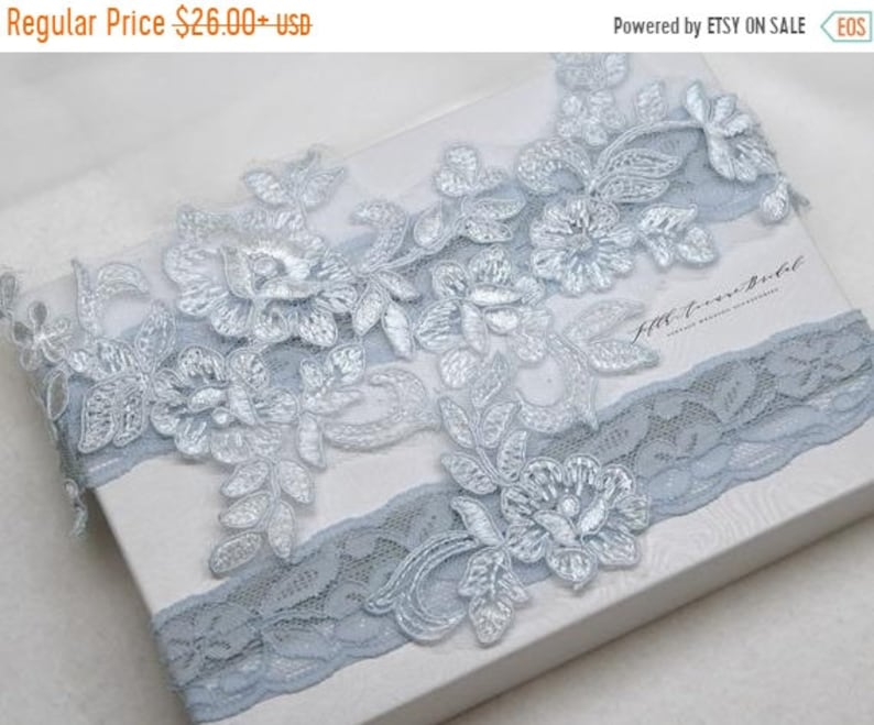 0574f851a ON SALE Something blue bridal garter wedding garter bride