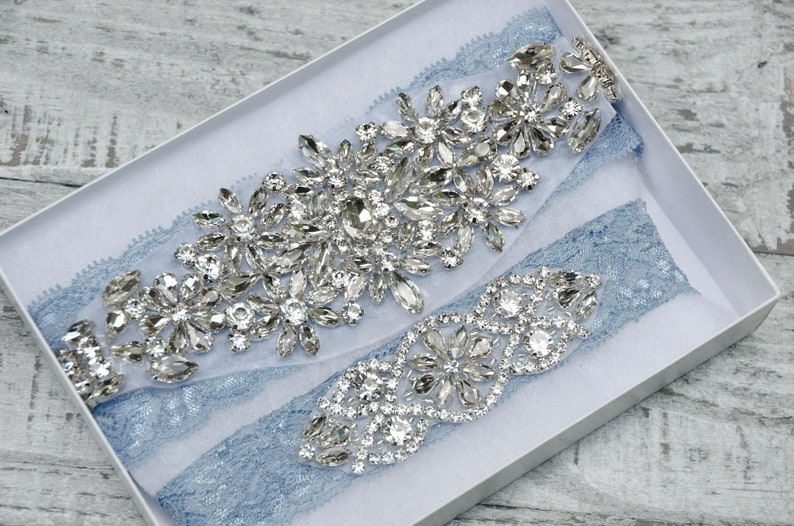Something Blue Wedding Garter Style 29S804A Powder Blue  Lace Garter Bridal Garter Toss Garter Keepsake Garter Wedding Garter Belt