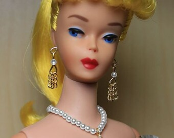 Plantation Belle Pearl Doll Jewelry Set Made For Vintage Barbie *Repro*