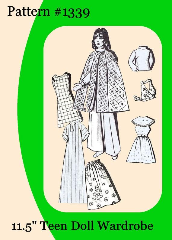 "17 Mail Order Pattern on CD fits Barbie Dolls 11.5/"" Newspaper"