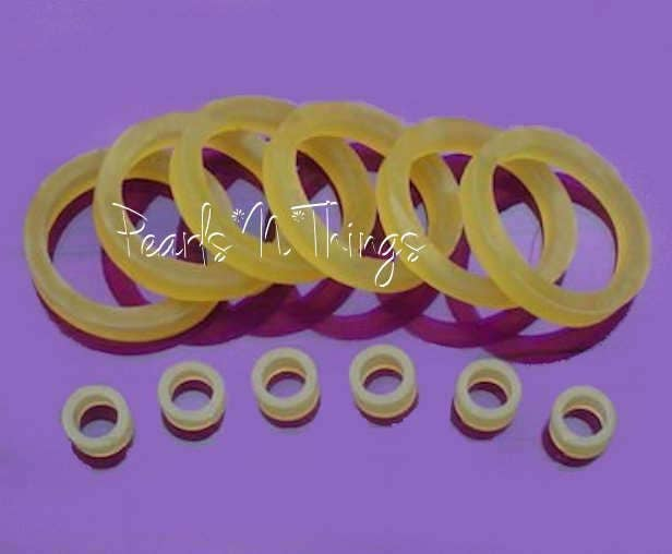150 Stringing Bands Rubberbands For Doll Repair 5 Sizes *Best Value On *