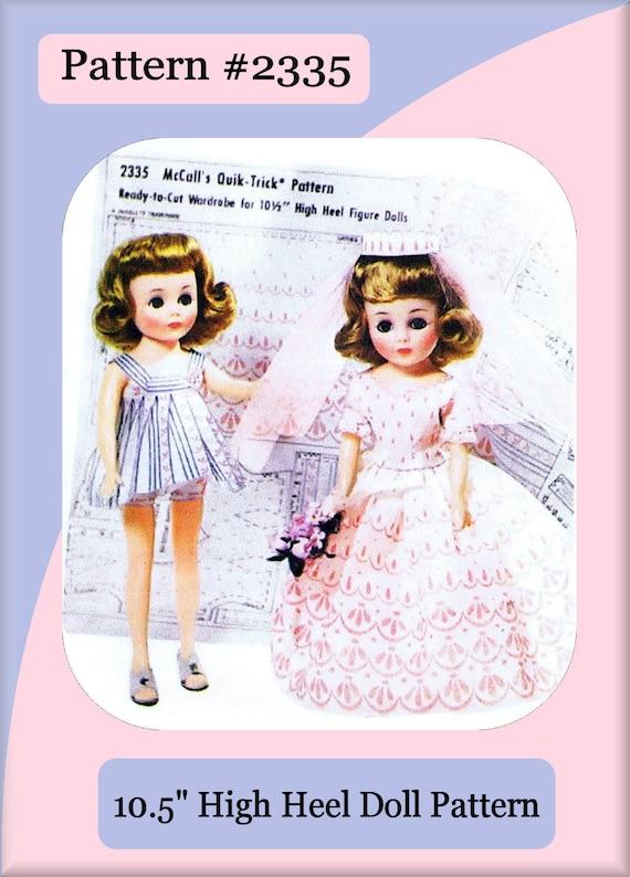 "Jill Toni Wedding Dress Vtg Doll Pattern 10.5/"" Little Miss Revlon Cissette"