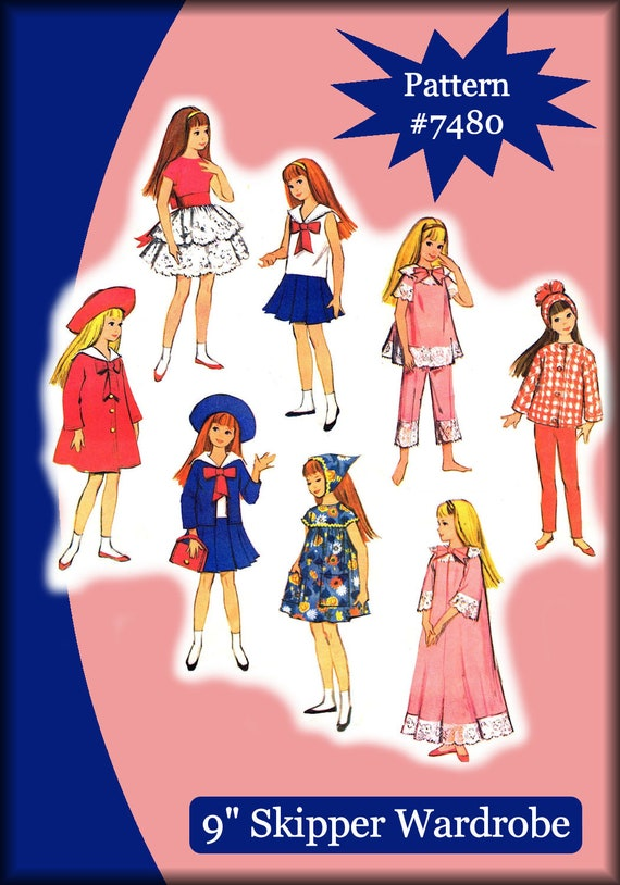 "Fits Barbie /& Ken Dolls 4938 Doll Wardrobe Pattern  11-1//2/"" Mail Order Newspaper"