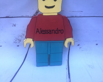 Lego Custom Wooden Decoration