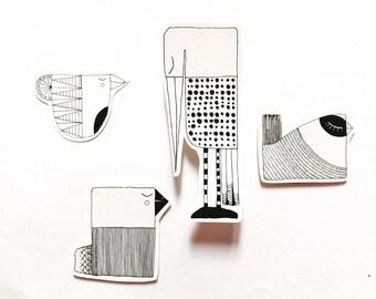 Stickers / OISEAUX stickers (4 pieces)