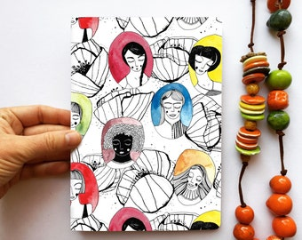 Cahier/Notebook SEPT WOMEN, A5, recycled paper, 48 blank pages