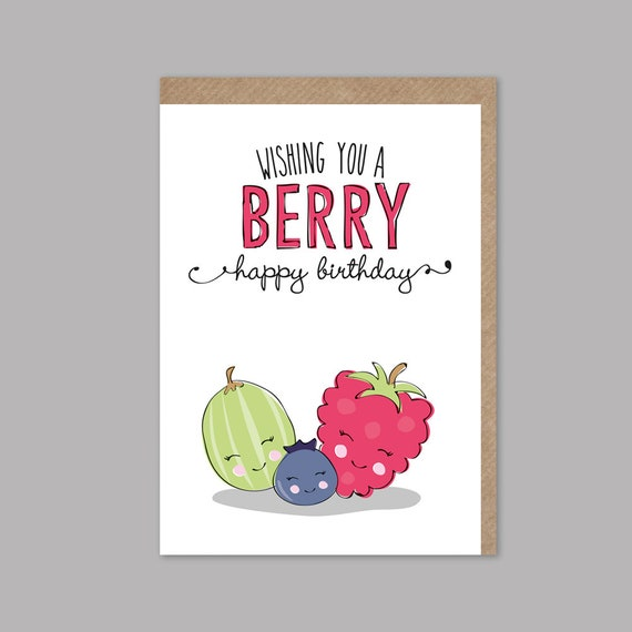 Funny Birthday Card Pun Happy