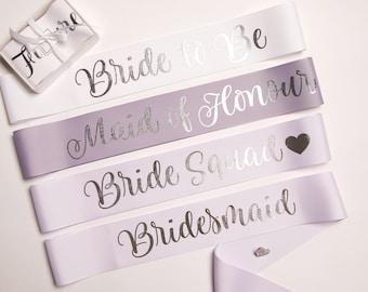 Custom Hens Party Sashes With Pin Included // Bachelorette Party Sash // Birthday Sash // Bride To Be Sash // Future Mrs Sash