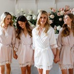 Lace Bridal Robe // Bridesmaid Robes // Robe // Bridal Robe // Bride Robe // Bridal Party Robes // Bridesmaid Gifts // Satin Robe // Lauren
