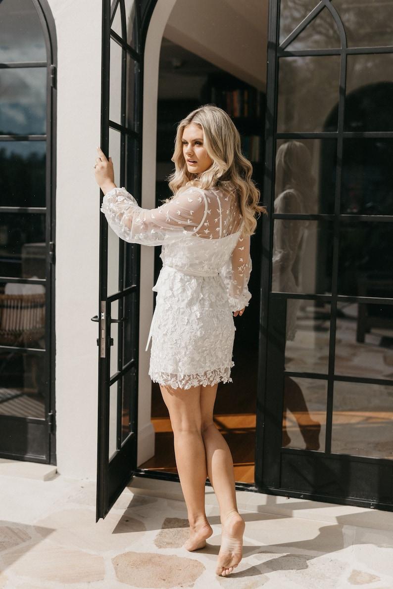 Lace Robe  Lace Bridal Robe  Bridesmaid Robes  Robe  Bridal Robe  Bride Robe  Bridal Party Robes  MAYA
