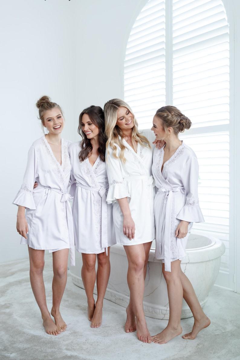 Bridal Robe // Bridesmaid Robes // Robe // Bridal Robe // Lilac