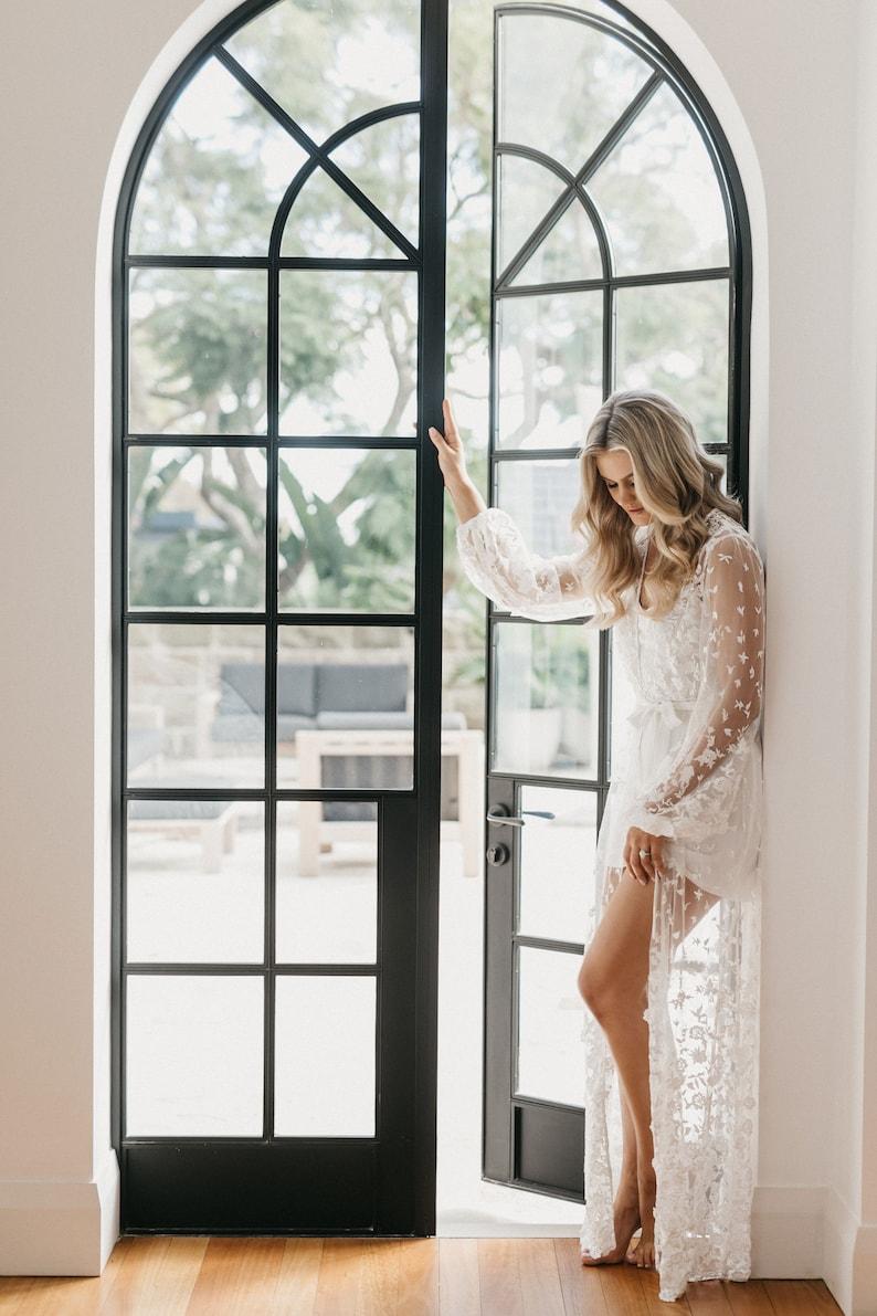 Lace Maxi Robe / Lace Bridal Robe / Bridesmaid Robes / Robe / image 2