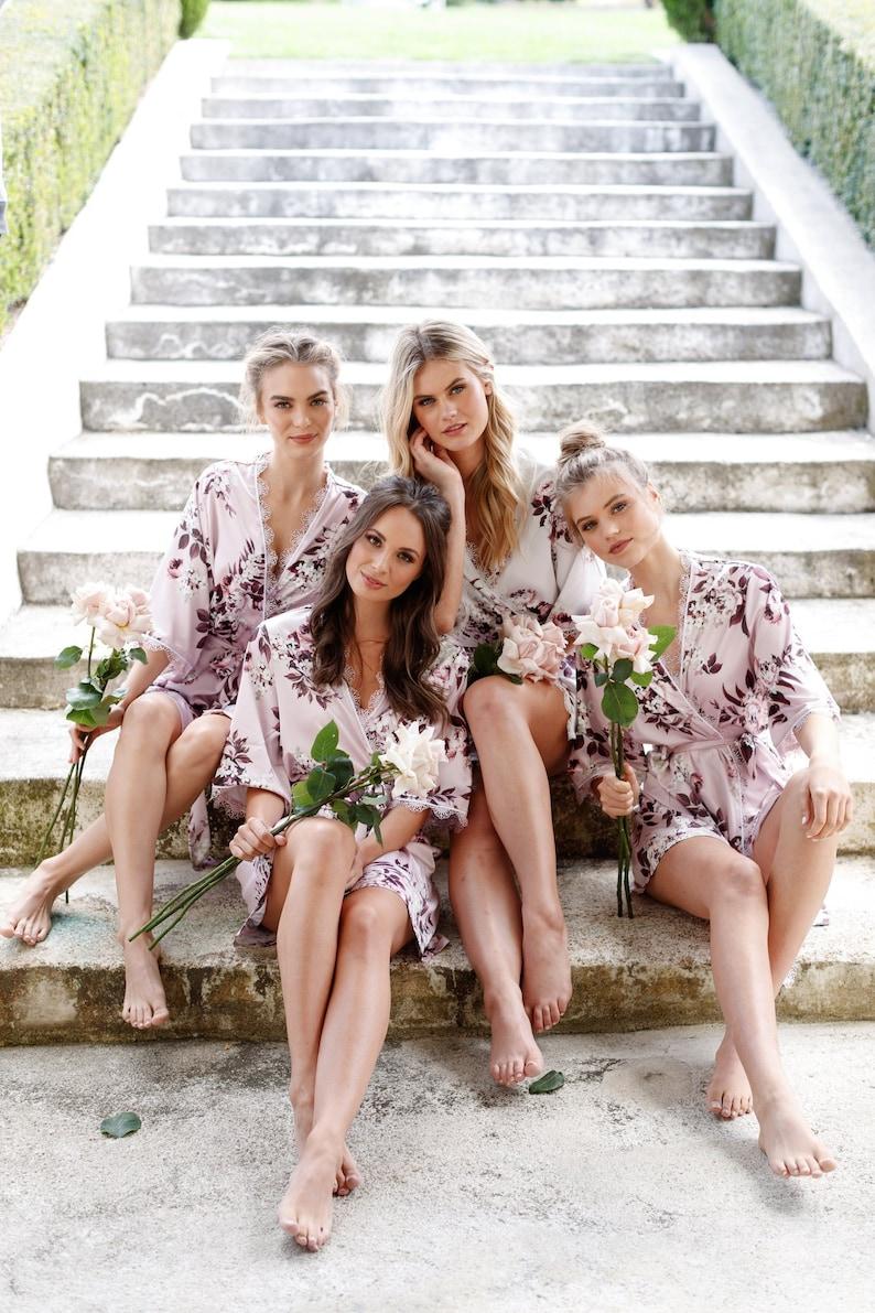 Bridesmaid Robes / Bridal Robe / Bridesmaid Gift / Robe / image 4