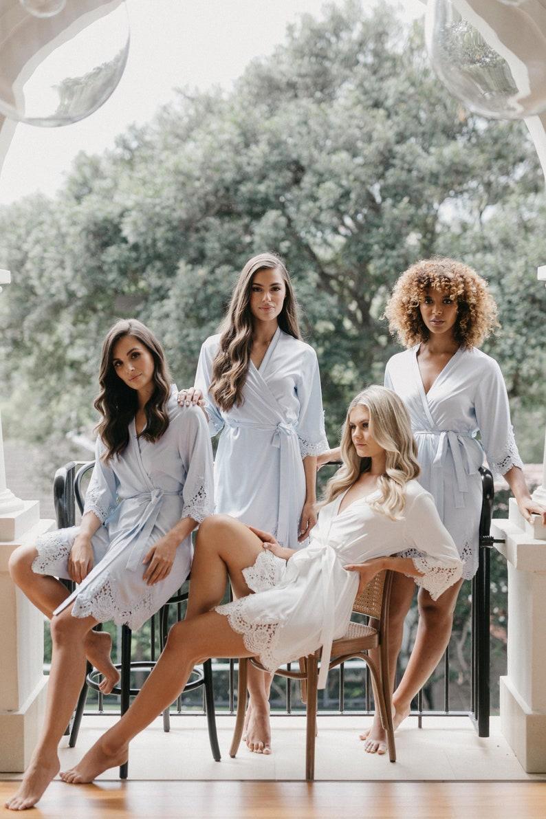 Bridesmaid Robes // Lace Bridal Robe // Bridal Robe // Bride image 0