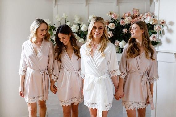 a8b7bcc6ef Lace Bridal Robe    Bridesmaid Robes    Robe    Bridal Robe