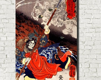 Utagawa Kuniyoshi, Japanese Fine Art Print, Konseimao hanzui beset by demons, Ukiyo-e