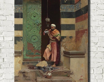A Cairene Merchant Raphael von Ambros Fine Art Print