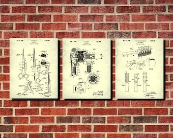Salon scissors blueprint hairdresser patent print poster salon hairdressing patent prints set 3 salon posters salon wall art hairdresser blueprints posters hairdresser gift salon decor malvernweather Images