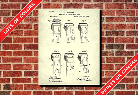 Badezimmer Dekor Toilettenpapier Patent drucken Bad Poster | Etsy