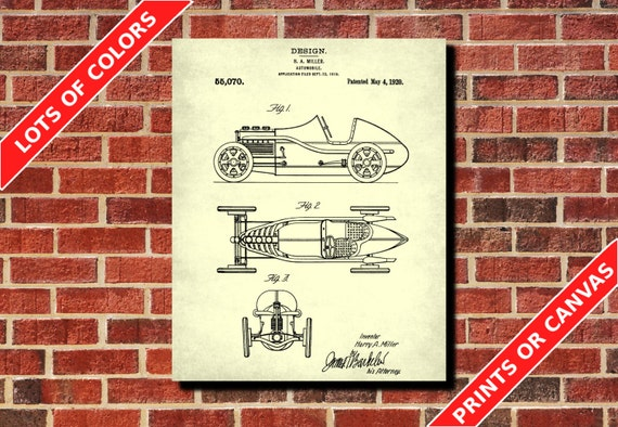 Indianapolis race car patent print racing car blueprint harry malvernweather Gallery