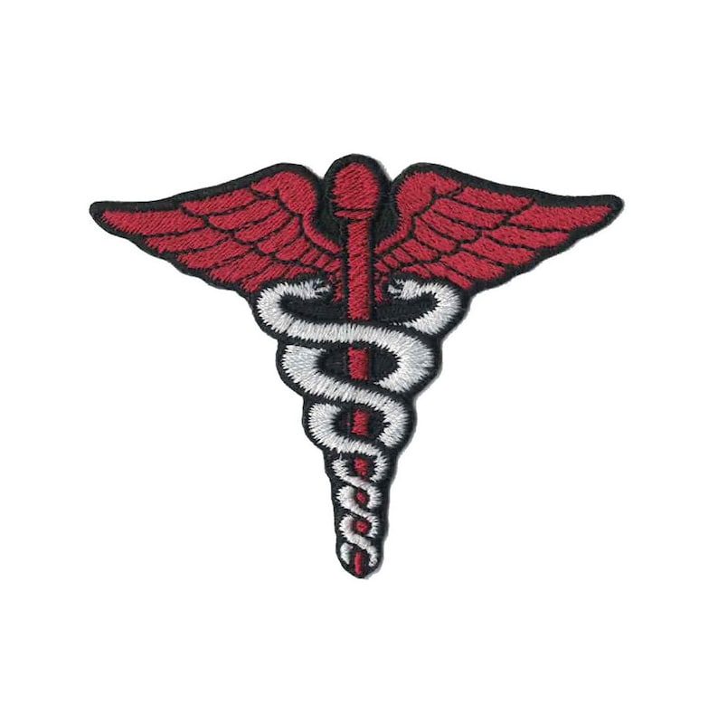 Fer Caducée Patch Applique Horrible Symbole De Médecine Brodé Docteur Sur xCdBeo