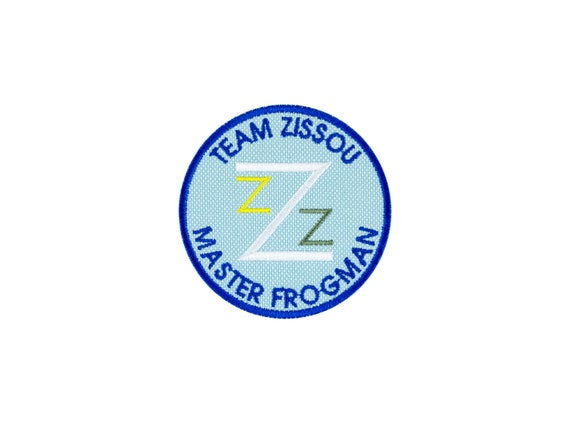 The Life Aquatic Team Zissou Master Frogman  Iron On Patch Iron on Applique