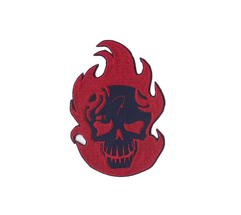 Suicide Squad El Diablo Patch Iron on Applique Iron on Patch