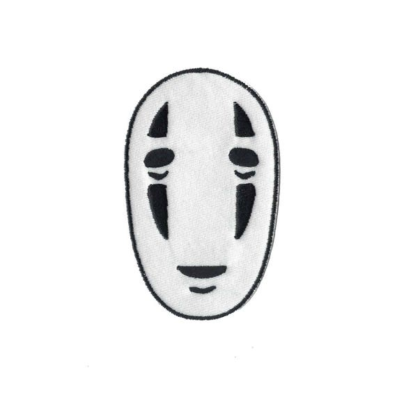 No Face Kaonashi From Spirited Away Embroidered Iron On Patch Etsy