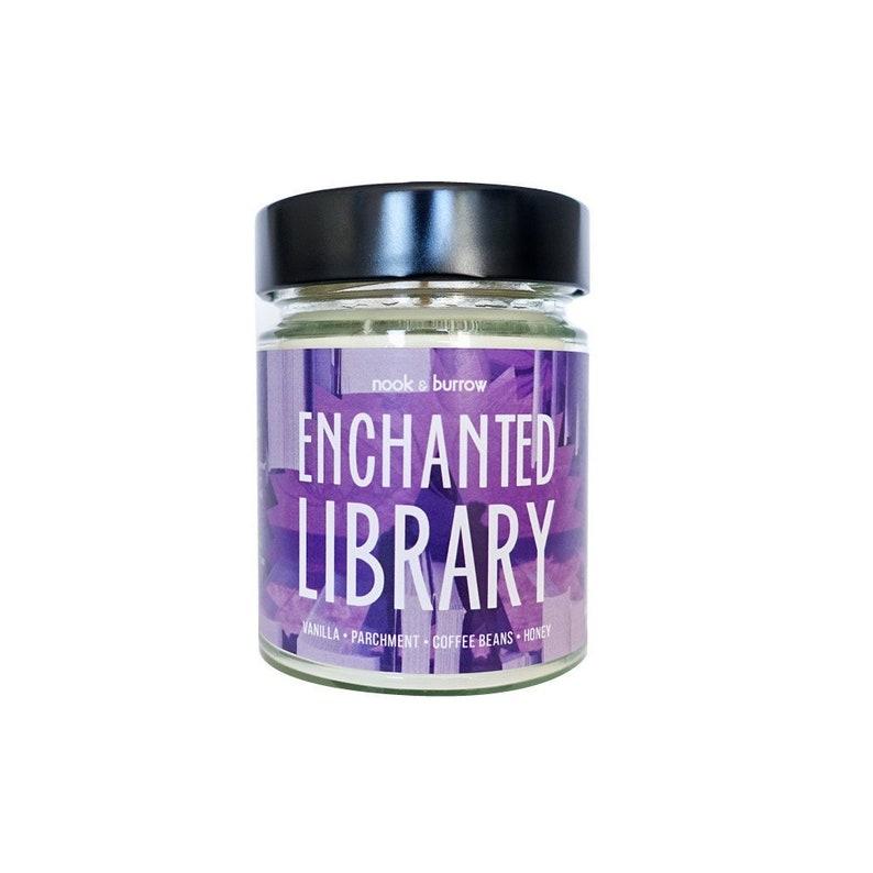 Enchanted Library  Jam Jar Candle image 0